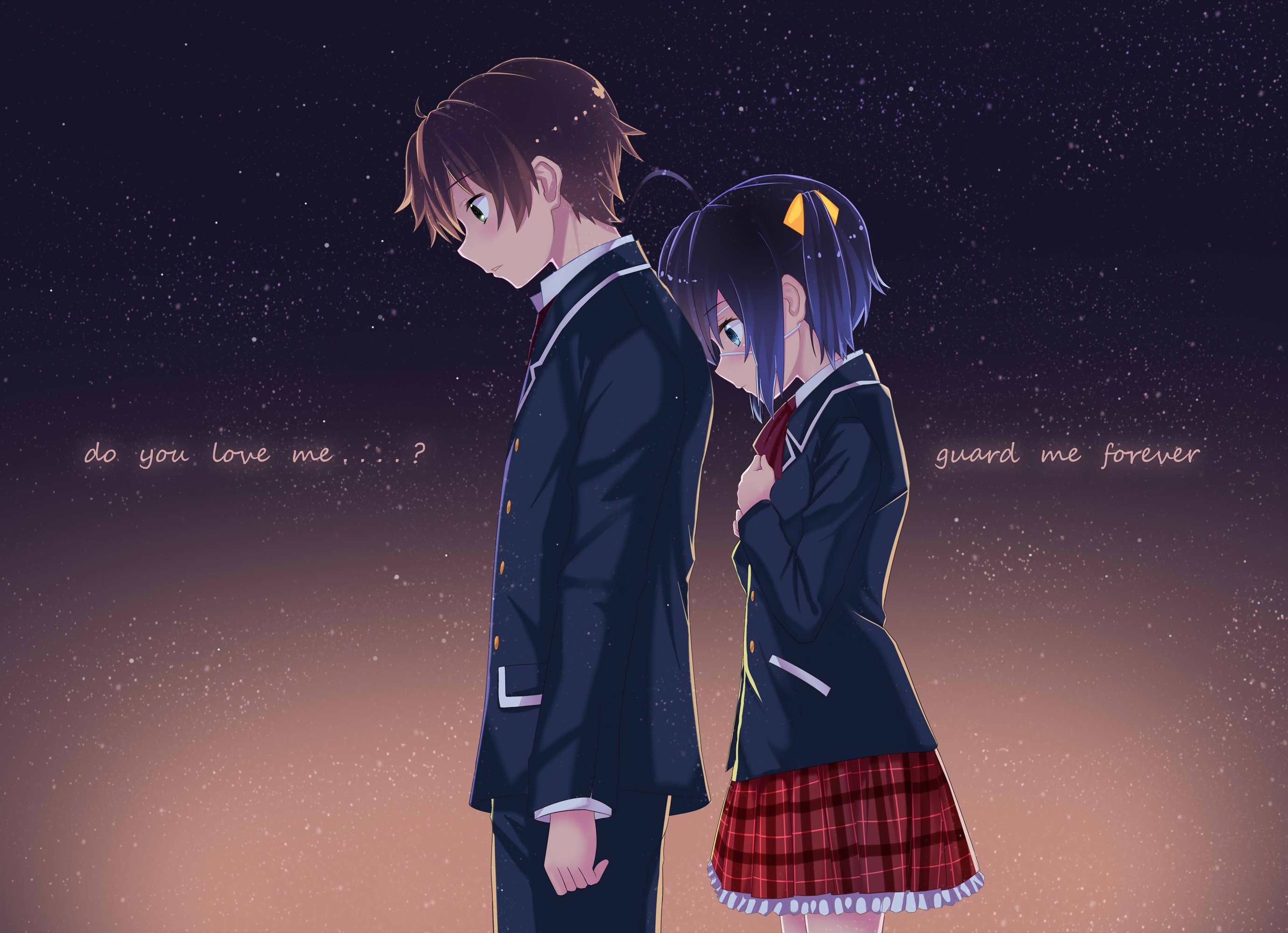 chuunibyou rikka and yuuta wallpapers - photo #2