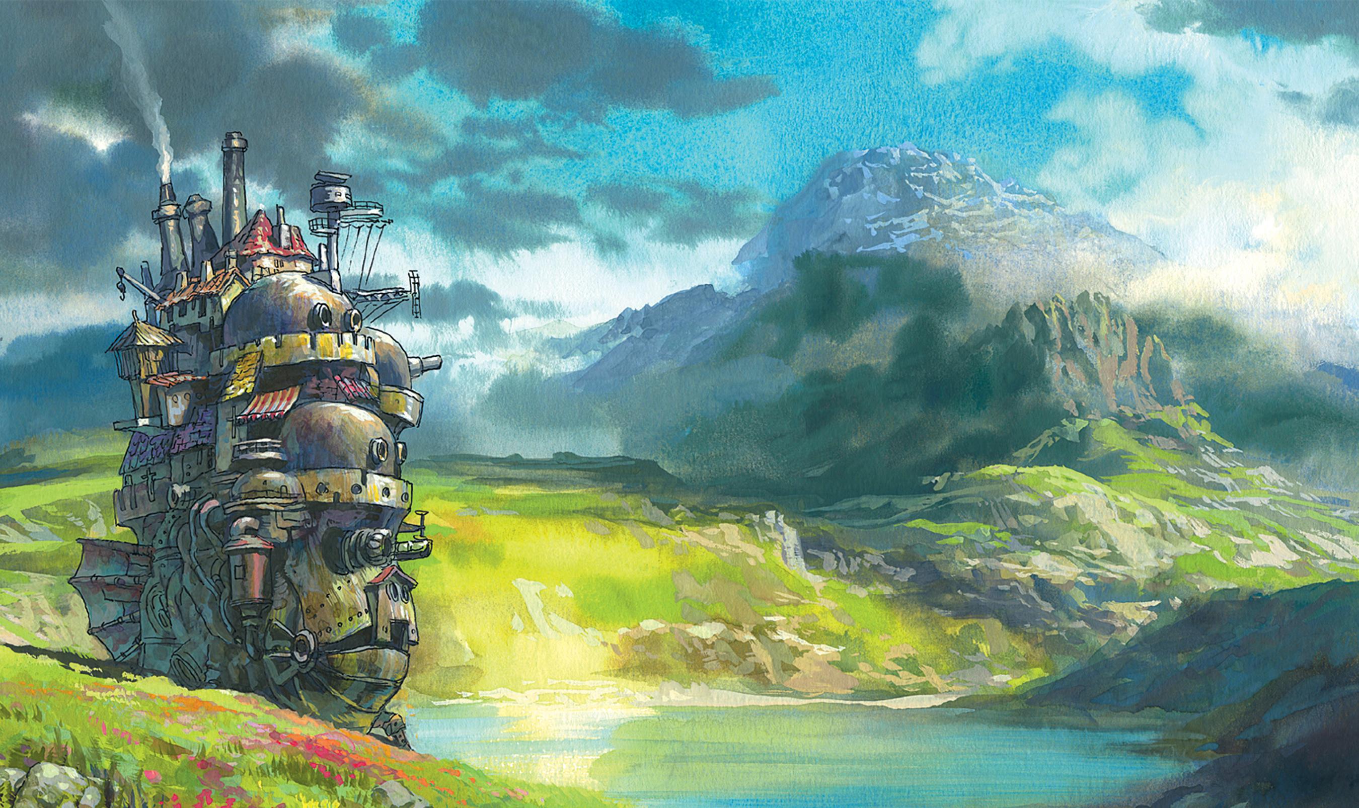 Studio ghibli anime no sekai - Moving wallpaper hd ...